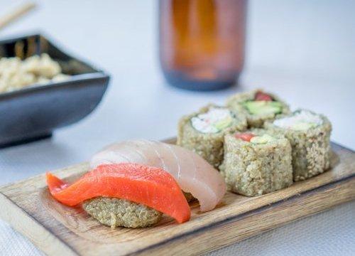 キノアを使ったヴィーガン寿司