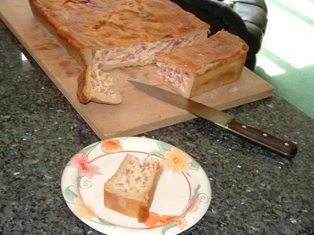 Pizza Gain Aka Pizzagaina, Pizza Rustica, Italian Easter Ham Pie. Photo by BlondieItaliana