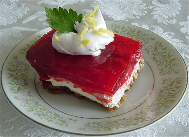 Strawberry Pretzel Salad. Photo by Marg (CaymanDesigns)