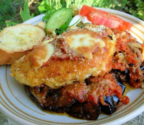 Oven Baked Chicken and Aubergine (Egg Plant) Parmigiana