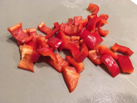 Chopped red pepper
