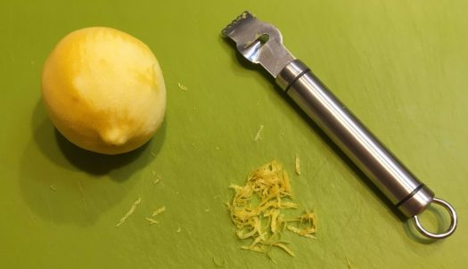 Zesting a lemon