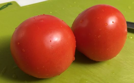 two small tomatoes