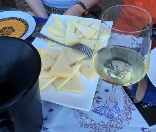 Hard and soft cheeses for the wine tasting