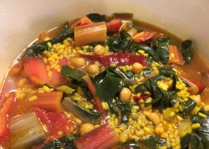 Rice with chard