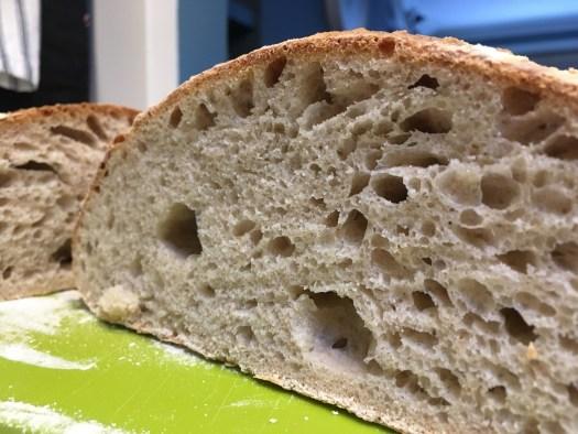 Inside of sourdough bread