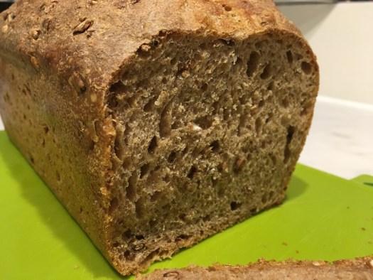 Malted loaf cut