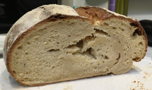 Undercooked bread