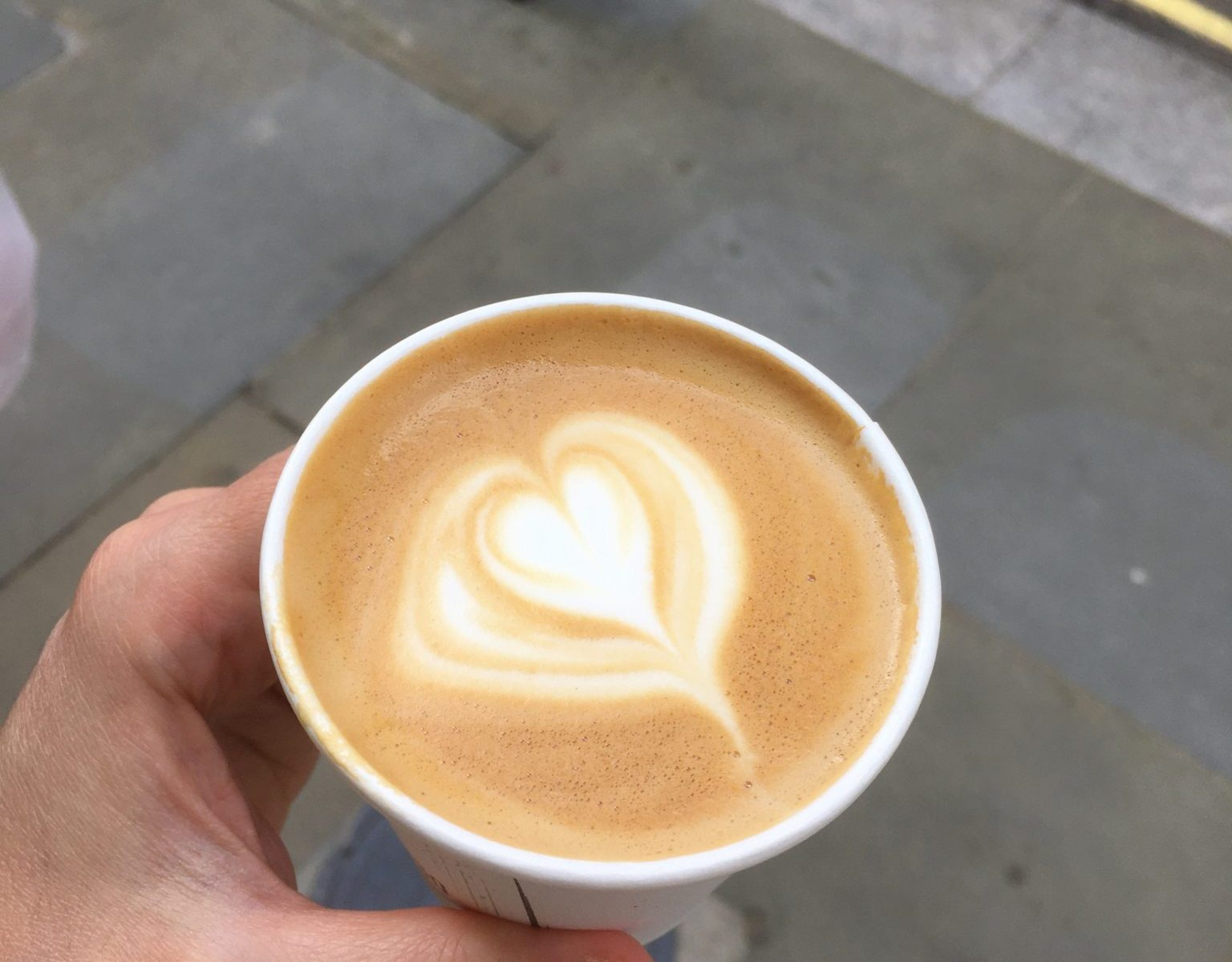 My first flat white in more than three months