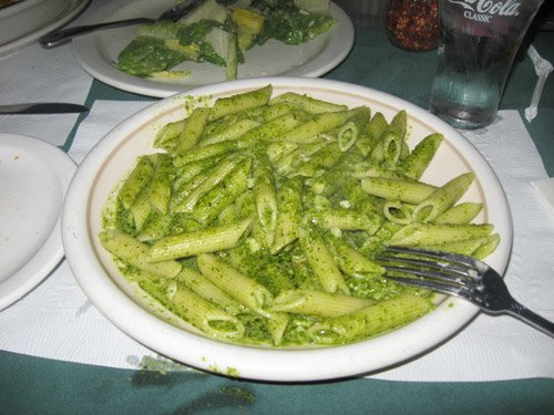 pesto pasta at volare