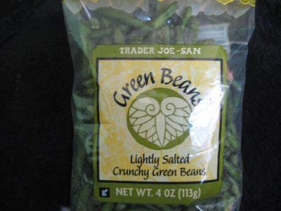 Crunchy green beans snack