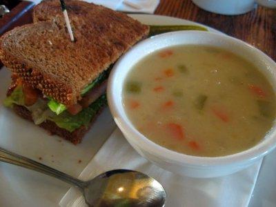 Living Room Cafe - San Diego - Soup and BLT