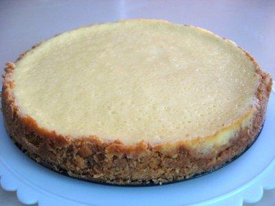 New York Style Sour Cream Cheesecake - Closeup