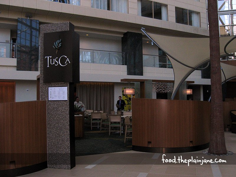 TusCa Ristorante at the Hyatt Regency Garden Grove CA Orange