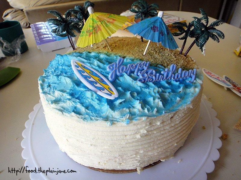 Swell Surf Beach Birthday Cake This Tasty Life Funny Birthday Cards Online Overcheapnameinfo