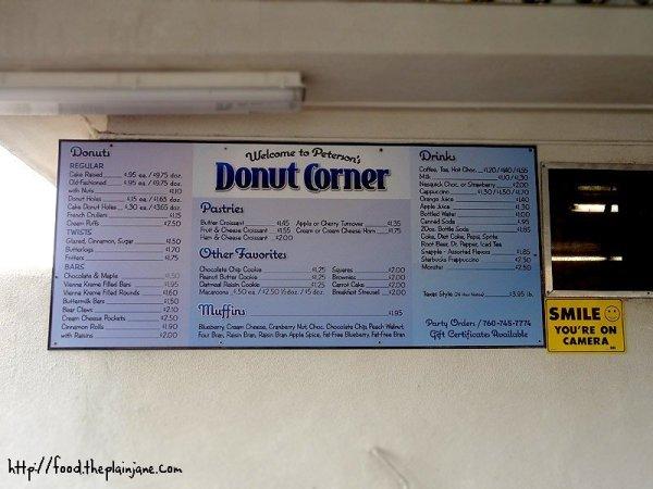 petersons-donut-menu
