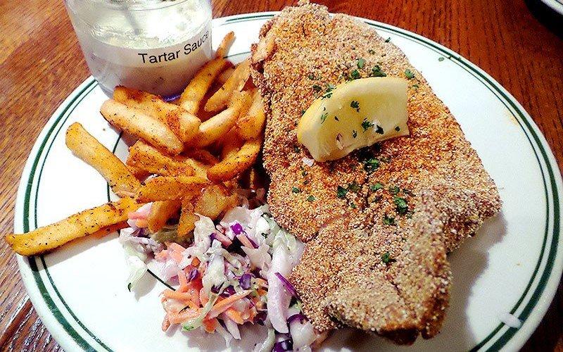 Cornmeal Crusted Fried Catfish at Bud's Louisiana Cafe