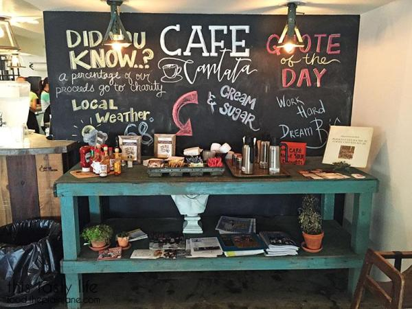 Table at Cafe Cantata