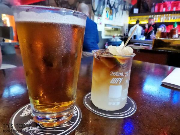 Ballast Point Yellowtail and Storm Trooper drink at Werewolf in San Diego, CA