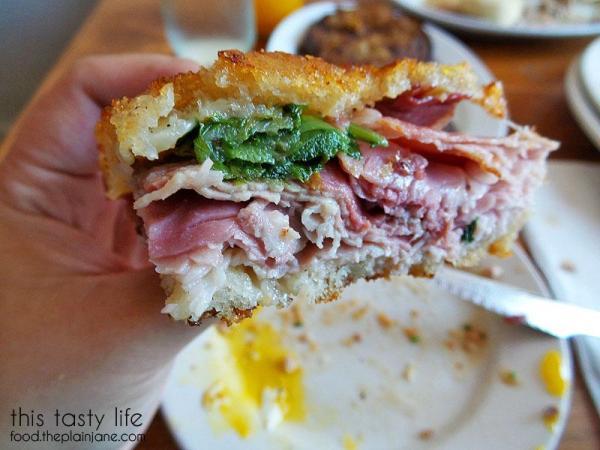 Inside the Ham & Egg & Cheese