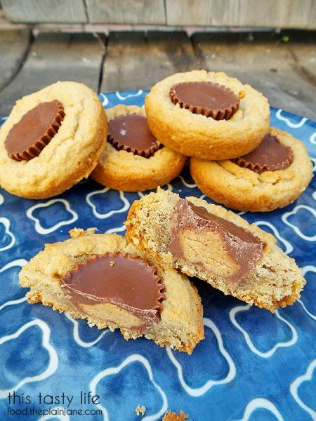Peanut Butter Cup Cookies   This Tasty Life - http://food.theplainjane.com