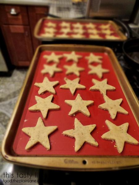Uncooked Shortbread Stars | This Tasty Life