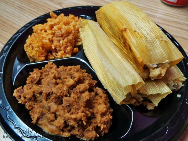 3 tamale combo plate at Tamales Ancira | This Tasty Life  - San Diego food blog