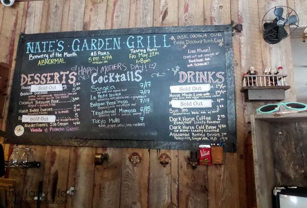 Dessert and Drinks Menu at Nate's Garden Grill | San Diego, CA - This Tasty Life