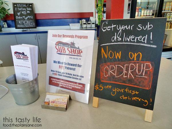 New Reward Program | College Sub Shop - San Diego, CA