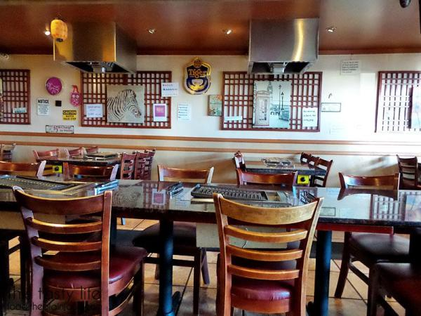 Empty Tables | Jeong Won Korean BBQ Buffet - San Diego, CA