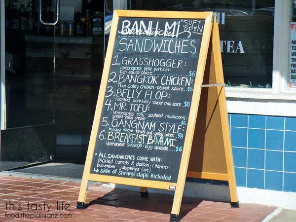 Banh Mi Menu at Baguette Bros - San Diego, CA
