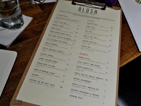 Menu Page 1 - Blush Ice Bar | San Diego, CA