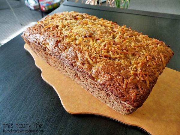 Jackfruit Banana Bread with Lime and Coconut by This Tasty Life