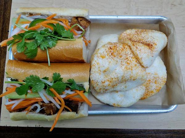 The Belly Flop - a roasted pork belly banh mi sandwich from Baguette Bros - San Diego, CA