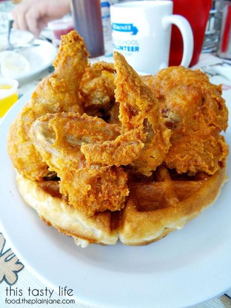 Chicken and Waffles - The Huddle | San Diego, CA | This Tasty Life - http://food.theplainjane.com