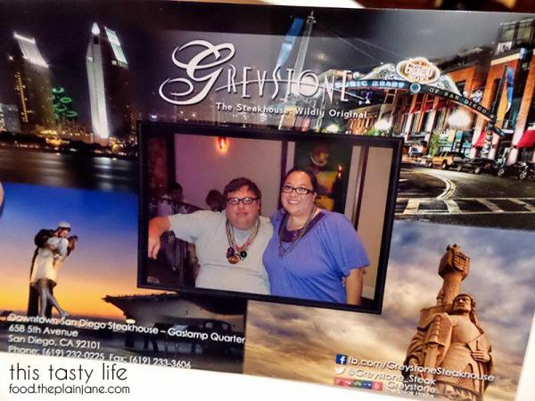 Postcard at Greystone Steakhouse | San Diego, CA | This Tasty Life