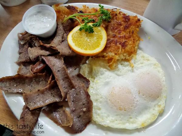Gyro and Eggs Breakfast | Lemon Grove Cafe - San Diego, CA
