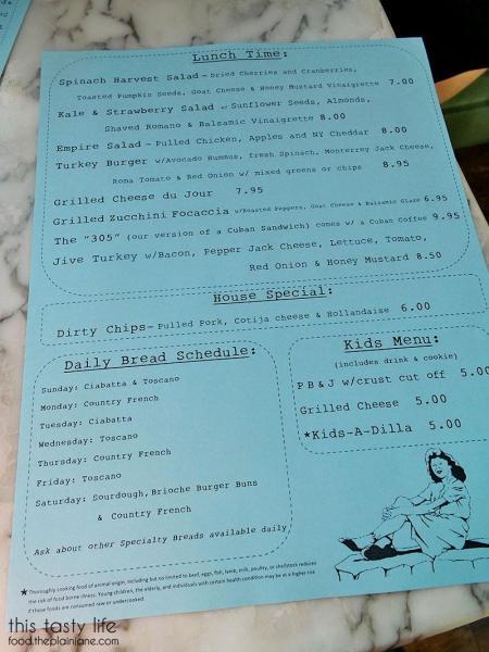 Lunch Menu at Lulu's Bread & Breakfast | Las Vegas, NV | This Tasty Life - http://food.theplainjane.com