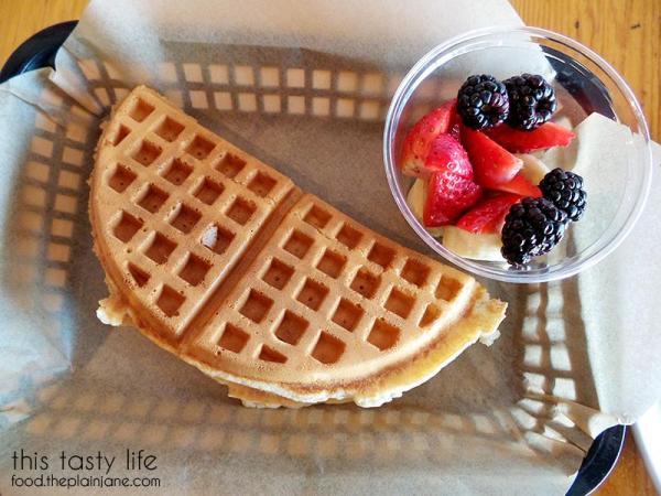 Waffle Sandwich with Fruit | TIABI Coffee & Waffle Bar | Las Vegas, NV