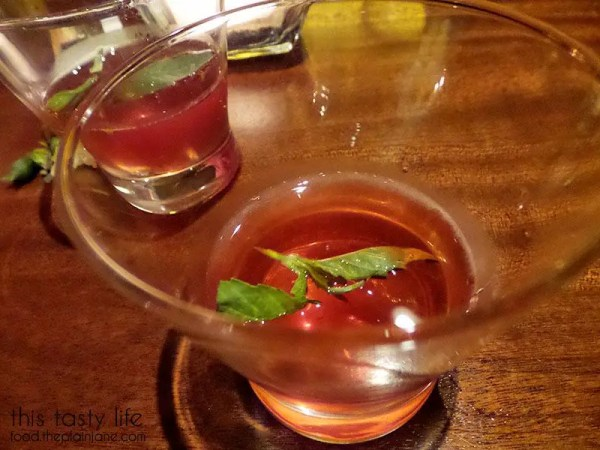 Strawberry Basil Infusion at Seasons 52 | San Diego