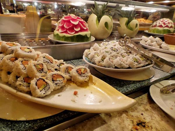 Sushi | The Buffet at Harrah's Rincon Casino