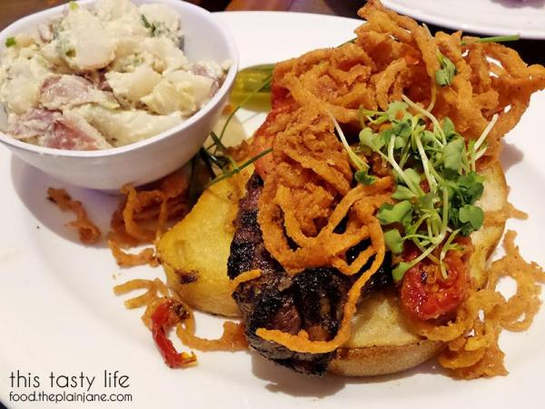Open Faced Steak Sandwich at The Cafe at Harrah's Rincon Casino | Valley Center, CA