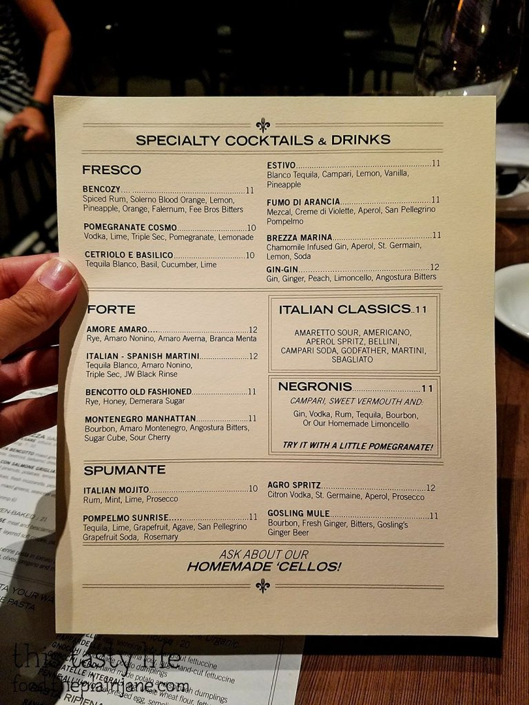 bencotto-special-drinks-menu