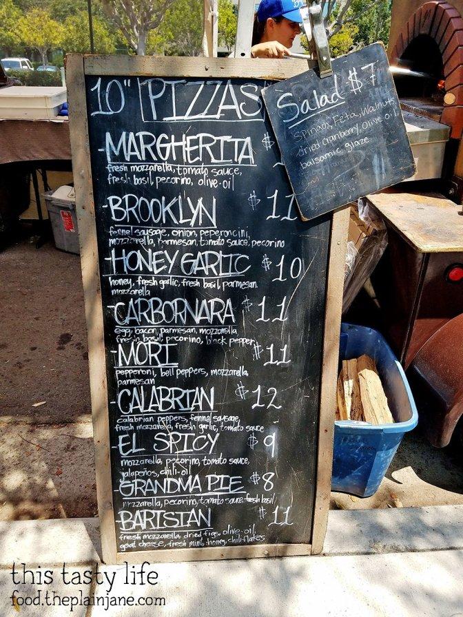 Criscito Pizza Menu