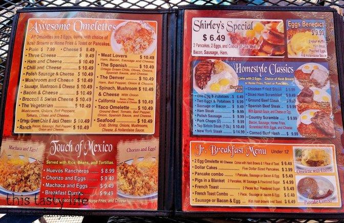 Menu at Shirley's Kitchen   La Mesa