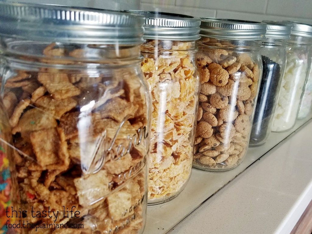 row-of-cereal-jars