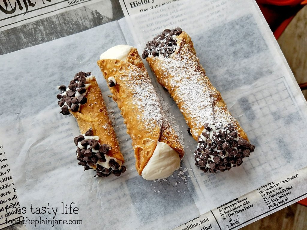 At Square Pizza they don't make the cannoli until you order it! The fresh ricotta cheese makes a huge difference for these tasty cannolis at Square Pizza Co - Pacific Beach - San Diego, CA | This Tasty Life
