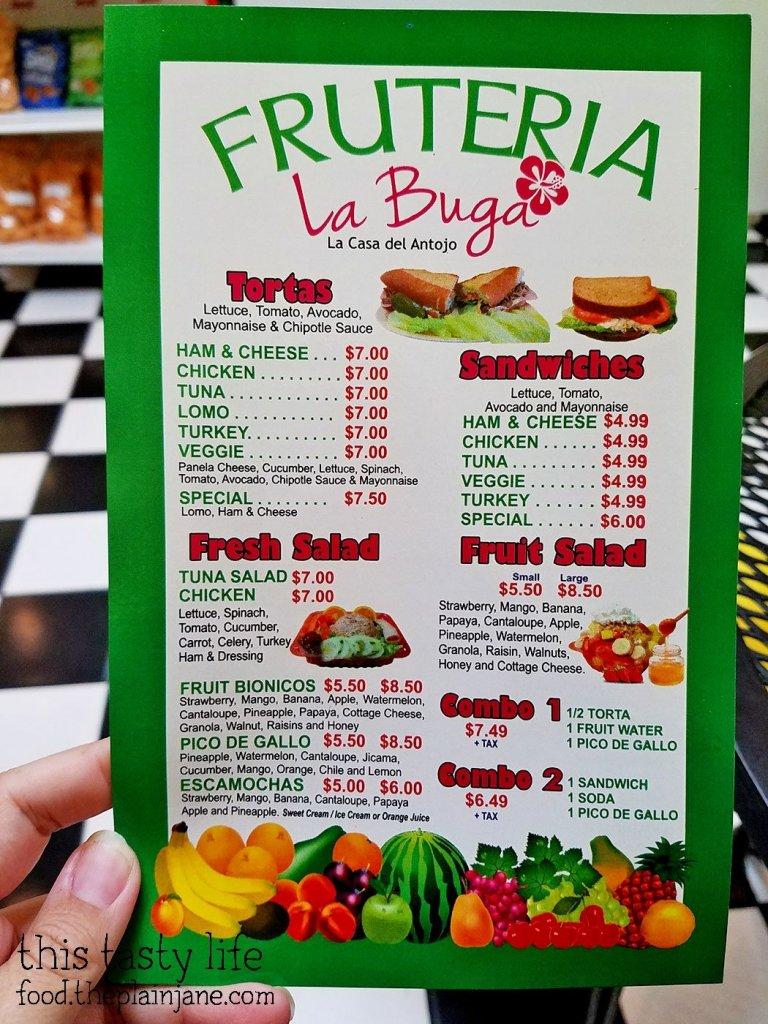 Menu at Fruteria La Buga - San Diego, CA - This Tasty Life