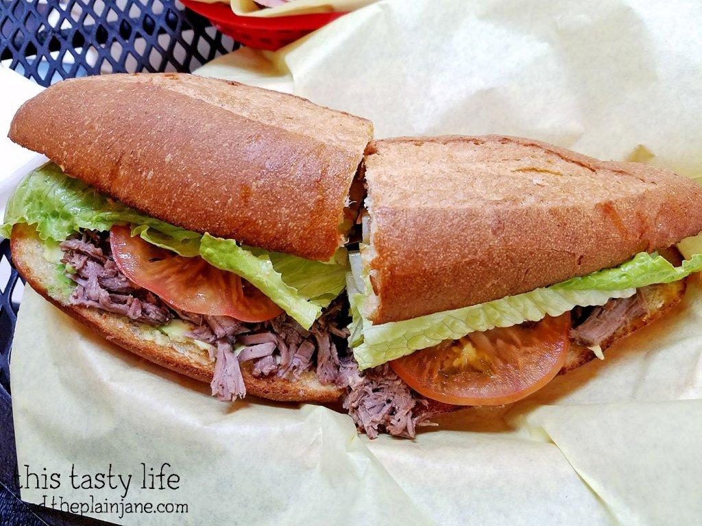 Lomo (Beef) Torta Sandwich from Fruteria La Buga - San Diego, CA - This Tasty Life