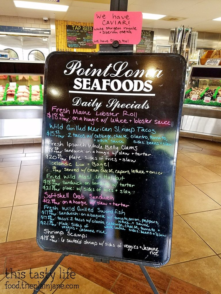 Daily Specials Board at Point Loma Seafoods - San Diego, CA - This Tasty Life